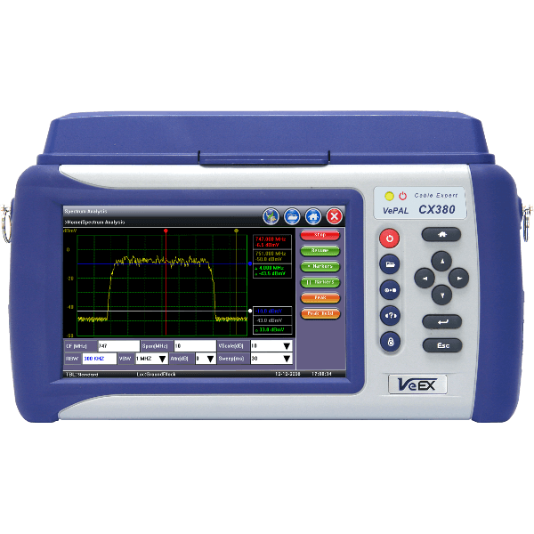 VeEX CX380s-D3.1<br>Advanced CATV System Analyzer