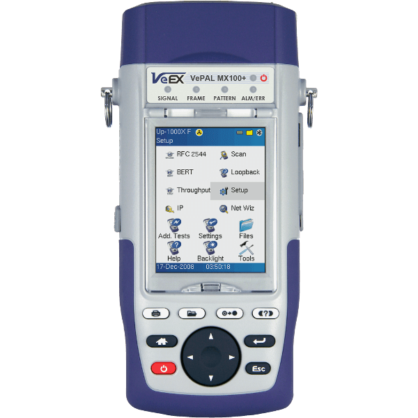 VeEX MX100e+ Handheld Ethernet Test Set