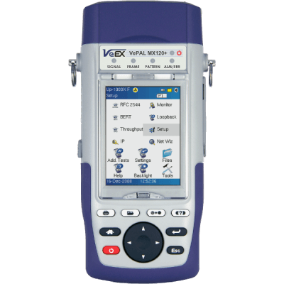 VeEX MX120e+ Dual Port Handheld Ethernet Test Set
